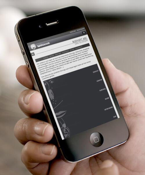 Wildcat responsive Webdesign Screenshot