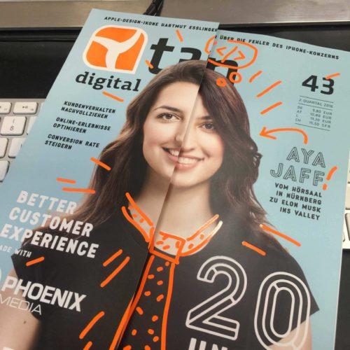 Cover der t3n Ausgabe 43: Card Design